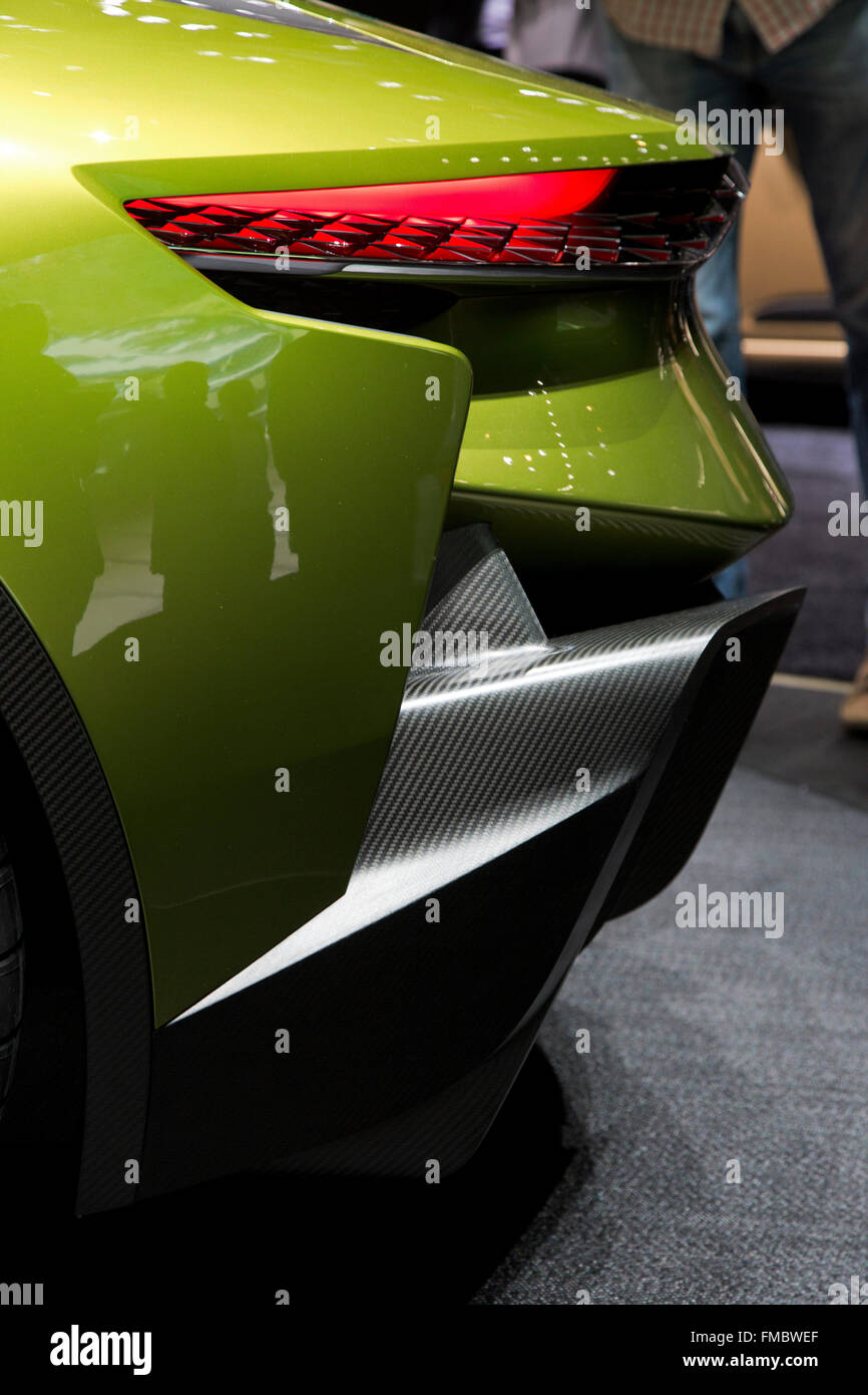 DS E-tesa concept car elettrica al Salone di Ginevra 2016 Immagini Stock