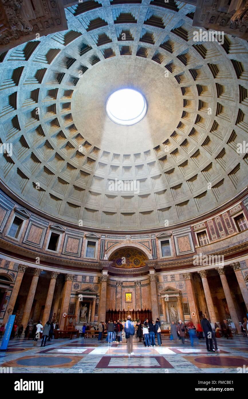 Italia Lazio Roma centro storico elencati come patrimonio mondiale dall UNESCO, il Pantheon Immagini Stock