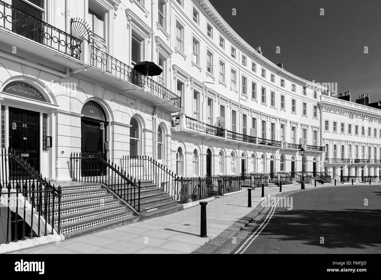 Brighton e Hove regency / Edwardian / architettura vittoriana, illustrante è passato. tenements REGNO UNITO Immagini Stock