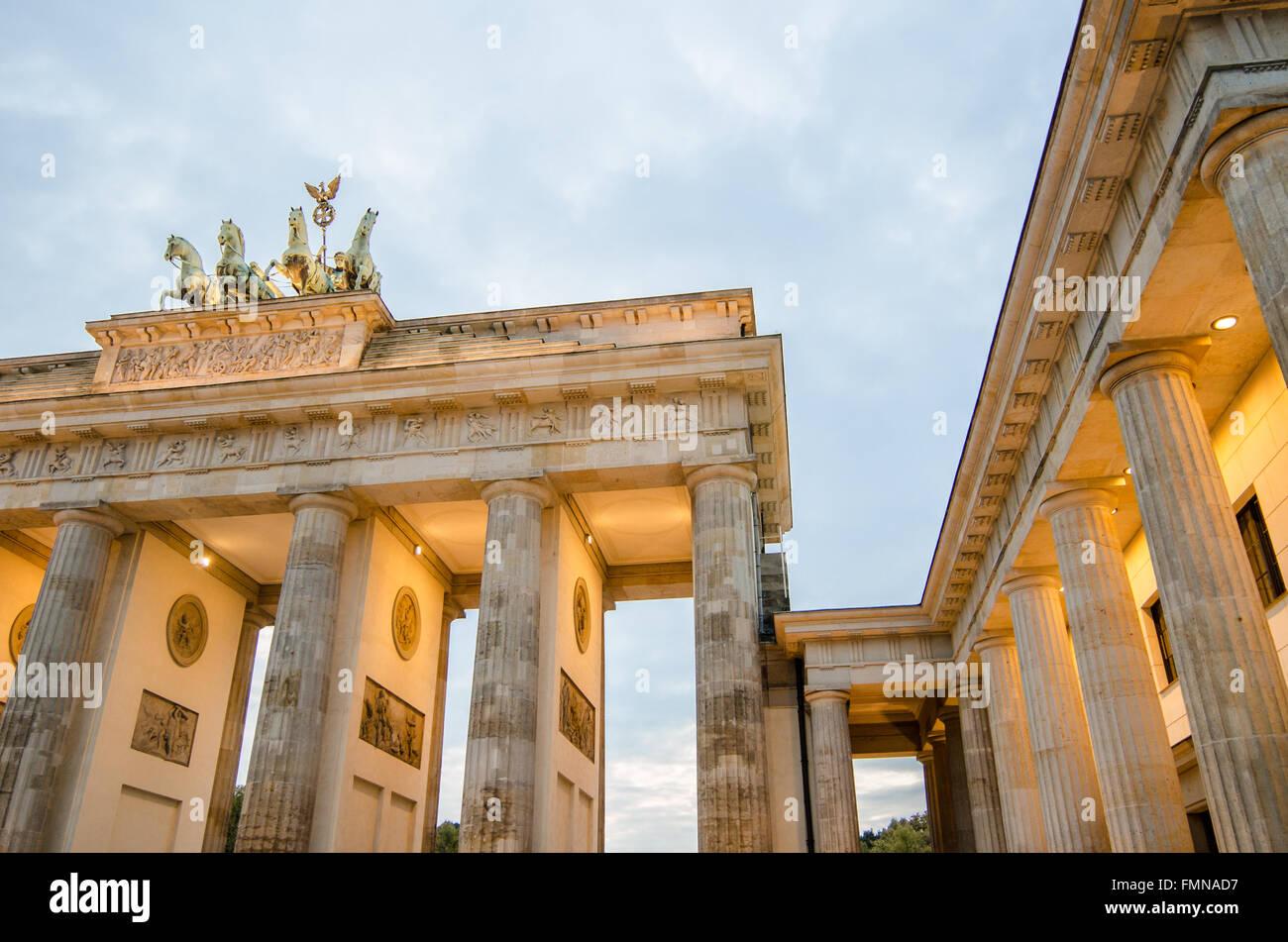 La Porta di Brandeburgo a Berlino Immagini Stock