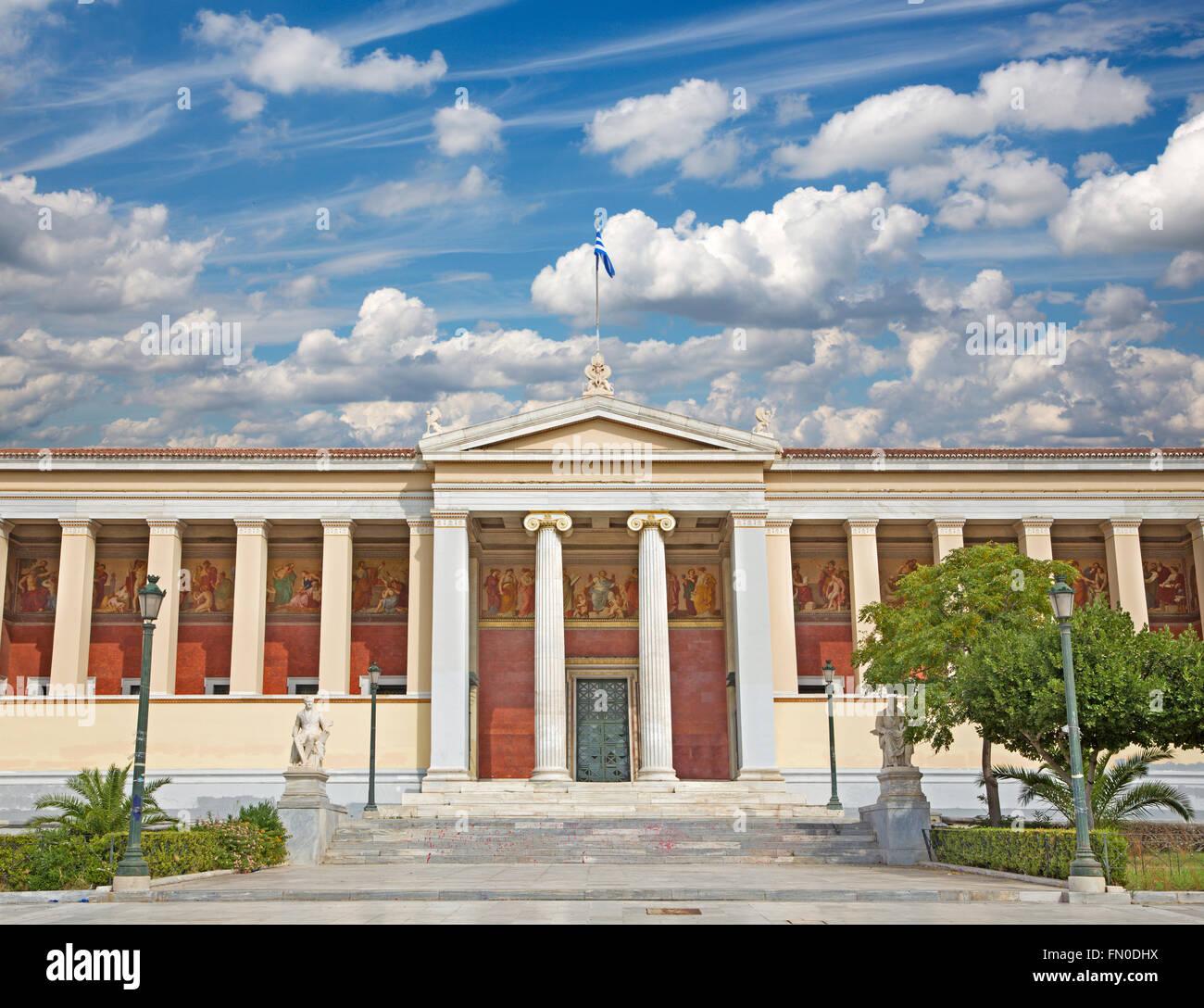 Atene - La costruzione della Nazionale e università Kapodistrian di Atene Immagini Stock
