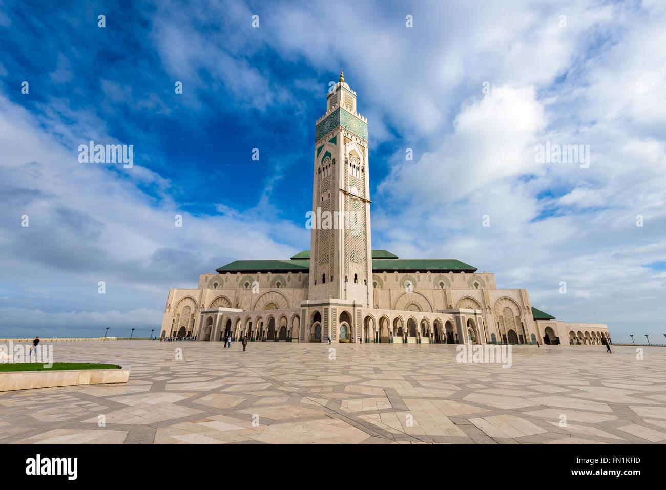 Casablanca, Marocco alla Moschea di Hassan II. Immagini Stock