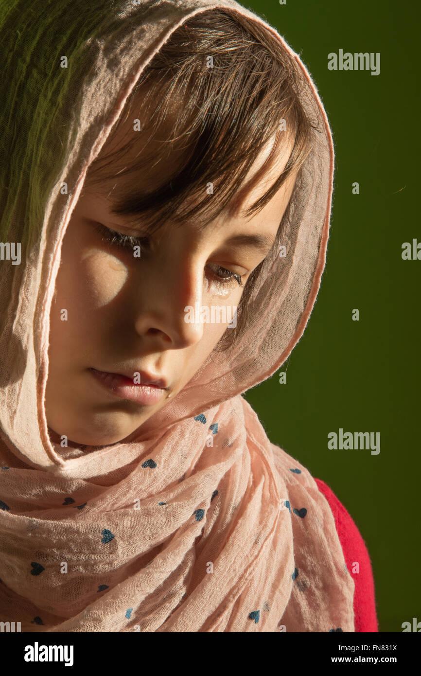 Il grido del giovane ragazza - Ritratto Immagini Stock