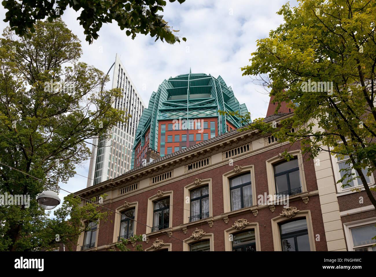 L'Aia, Olanda, vecchia e nuova architettura Immagini Stock