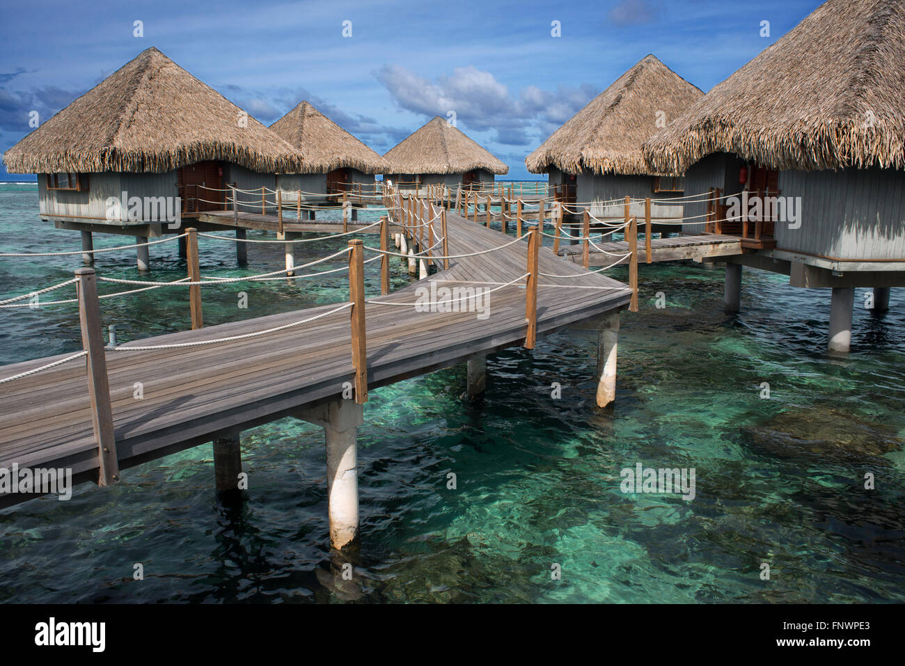 Meridien Hotel sull'isola di Tahiti, Polinesia Francese Tahiti Nui, Isole della Società, Polinesia francese, Immagini Stock
