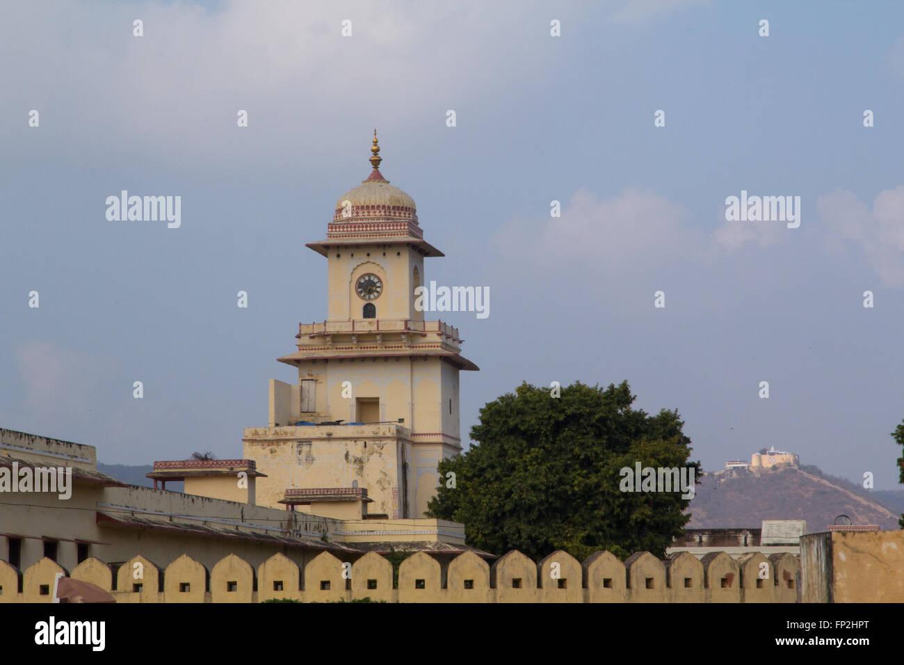 Asia, India Rajasthan, Jaipur, Jantar Mantar, aria aperta osservatorio astronomico. Immagini Stock