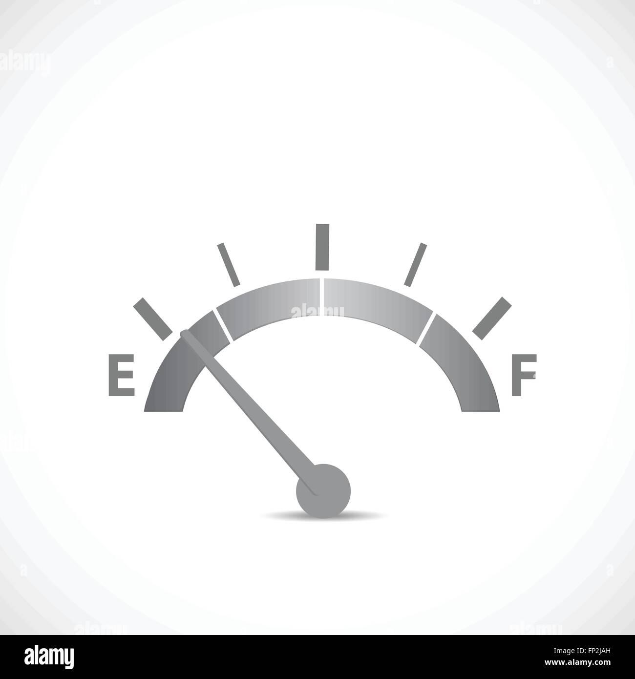 Illustrazione di un gase gage silhouette isolato su uno sfondo bianco. Immagini Stock