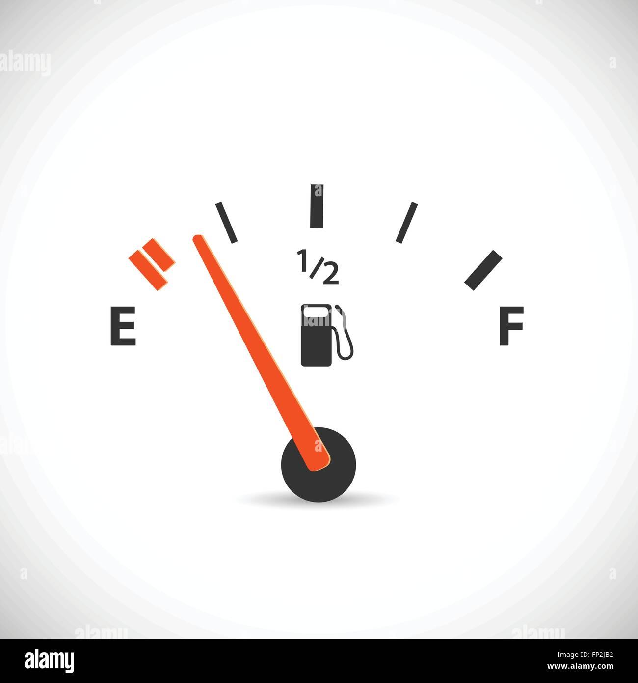 Illustrazione di un gas gage isolato su uno sfondo bianco. Immagini Stock