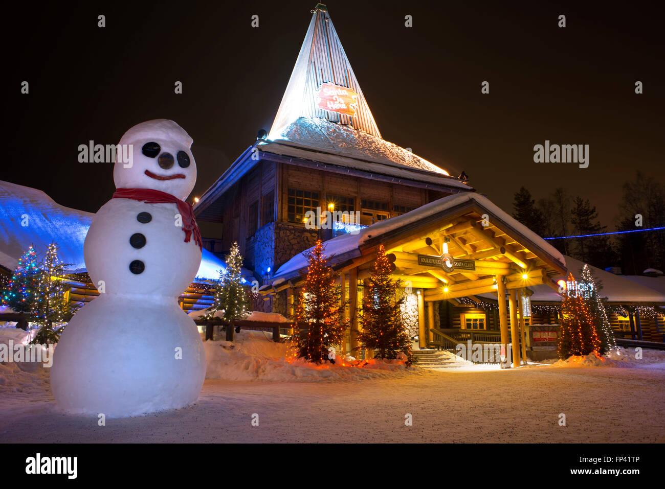 Casa Babbo Natale Rovaniemi Finlandia.Ufficio Di Babbo Natale Al Circolo Polare Artico Rovaniemi