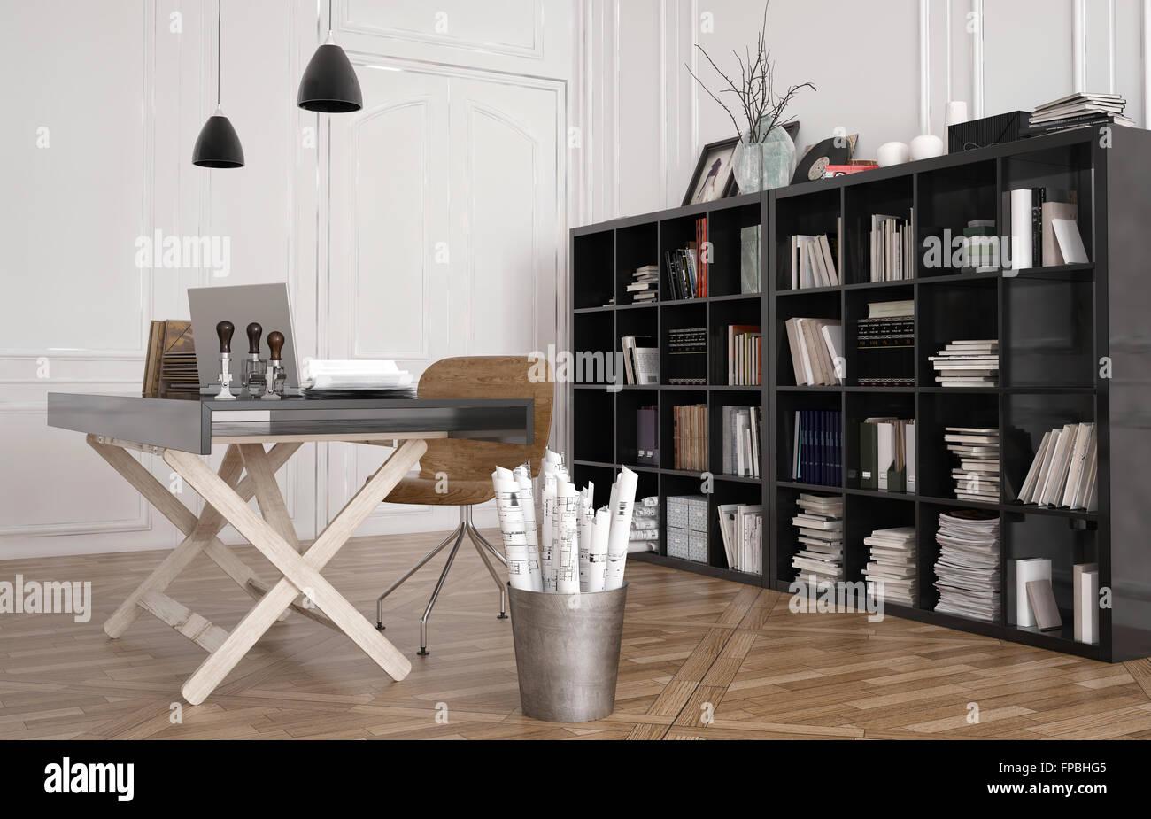 Tavolo Da Lavoro Grande : Tavolo da lavoro o banco di lavoro di progettazione in un ufficio