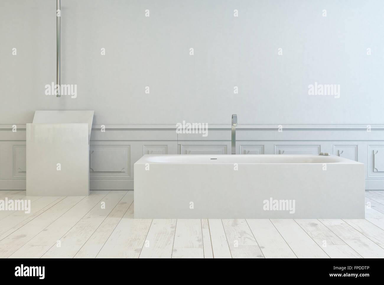 Vasca Da Bagno Semplice : Semplice bianco rettangolare vasca da bagno in un bagno bianco per