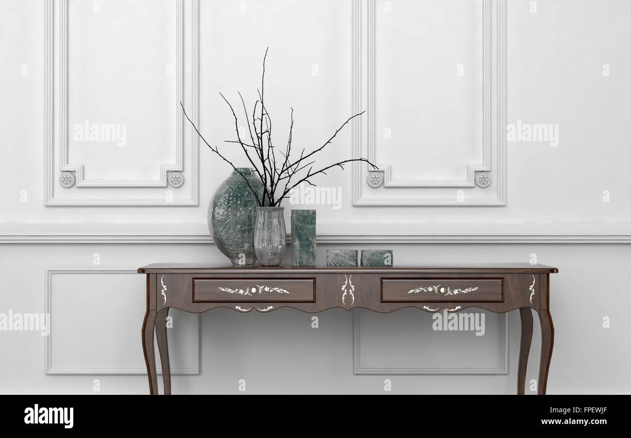 In stile vintage tavolo console in un classico soggiorno interno