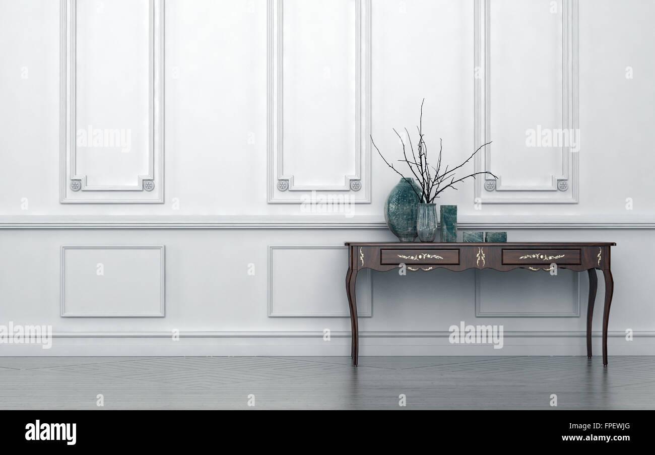 In stile vintage tavolo console in un classico soggiorno interno in