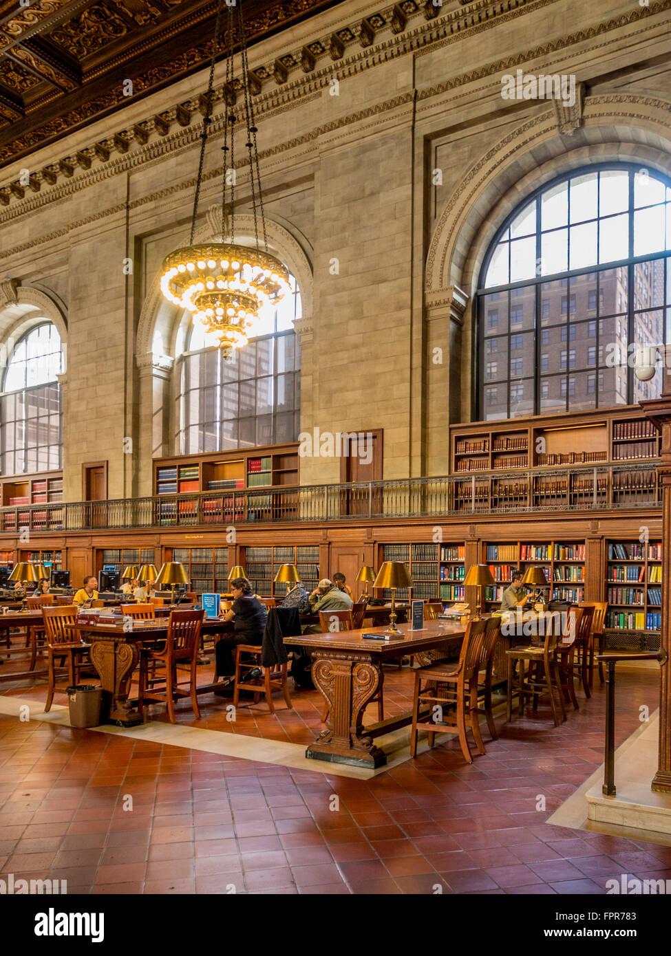 Bill Blass Catalogo pubblico Camera, New York Public Library - Stephen A. Schwarzman Building, la Fifth Avenue, Immagini Stock