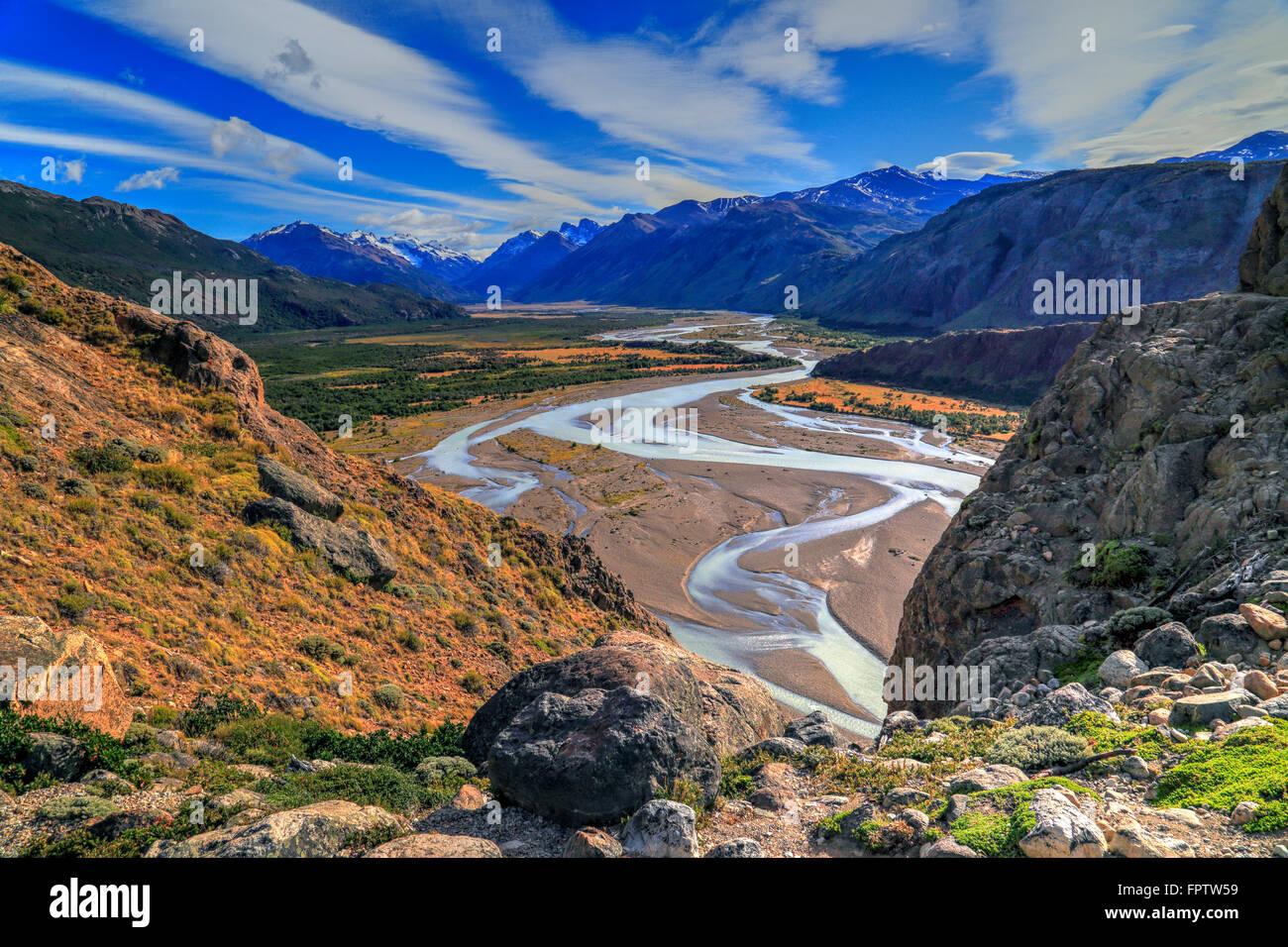 El Chalten, Santa Cruz, Patagonia Argentina Immagini Stock