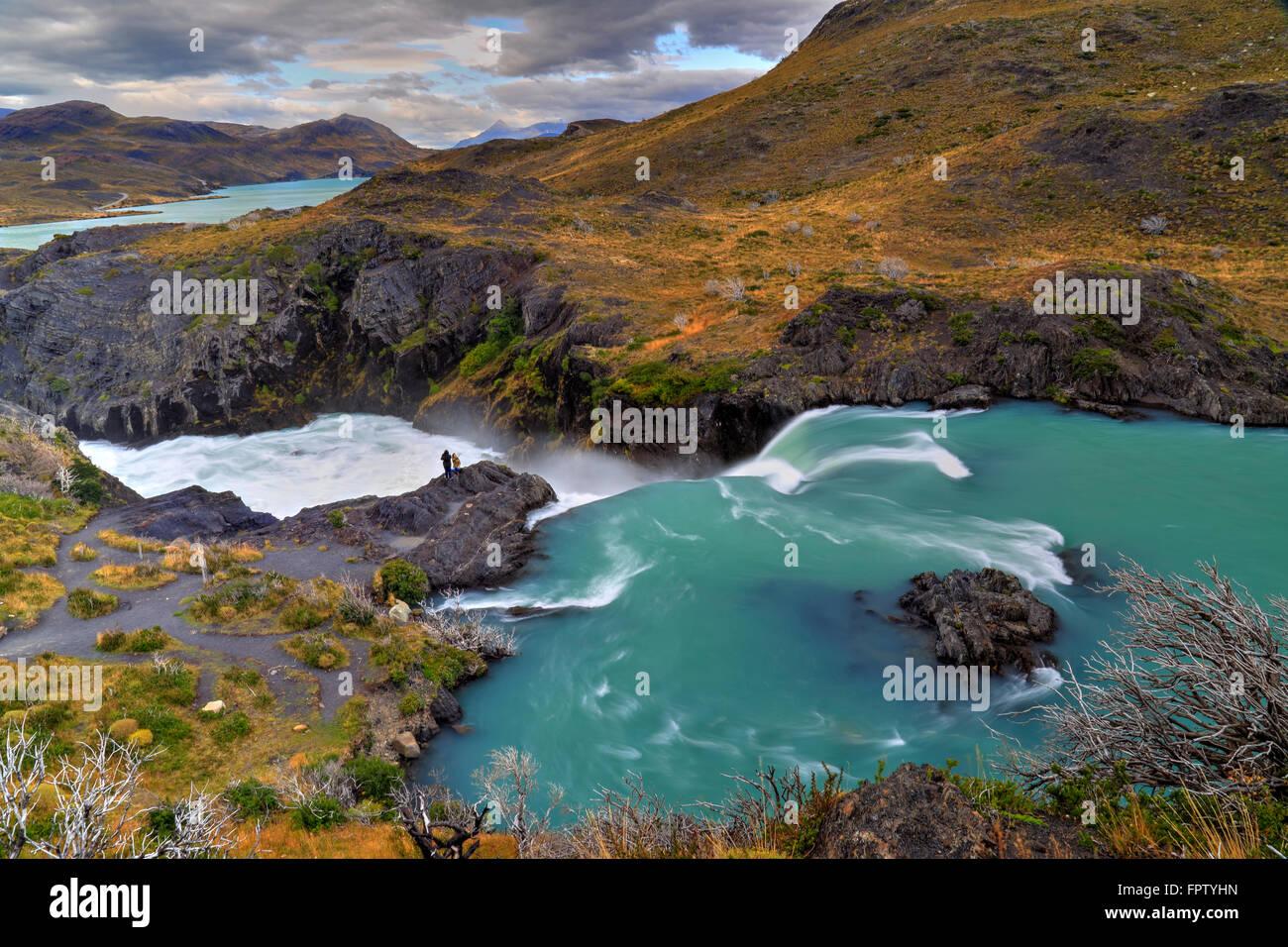 'Salto Grande', Parco Nazionale Torres del Paine, Cile Immagini Stock