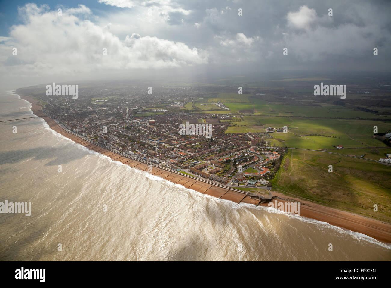 Vista aerea di Deal Kent Immagini Stock