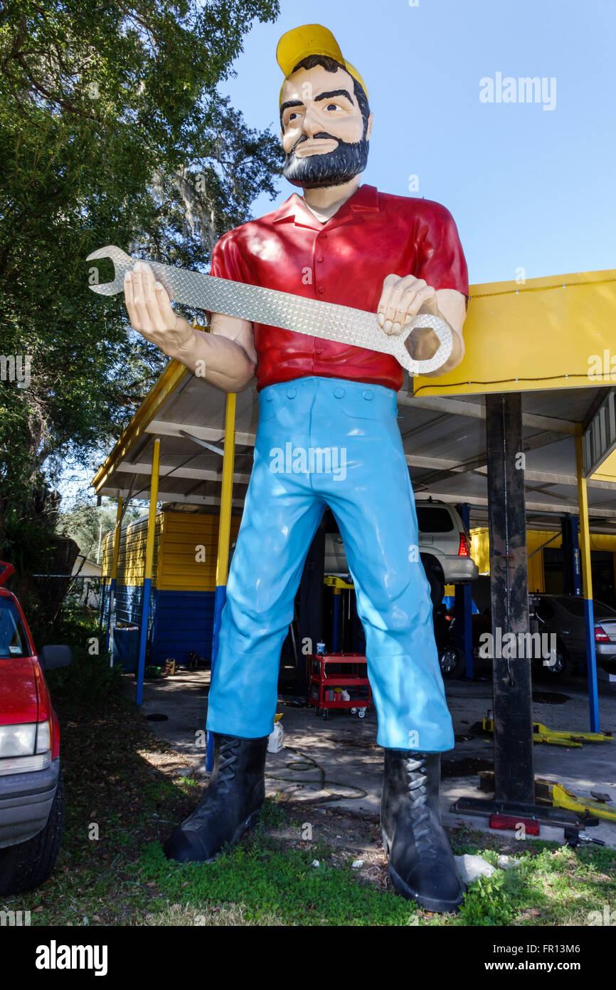 Florida FL Dade City Paul Bunyan marmitta uomo attrazione stradale statua gigante Immagini Stock