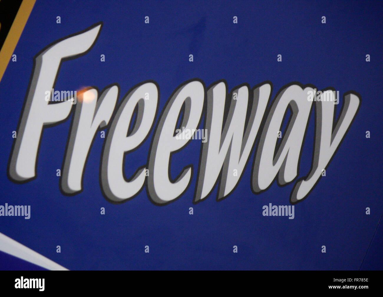 "Markenname: ""Freeway', Berlino. Immagini Stock"