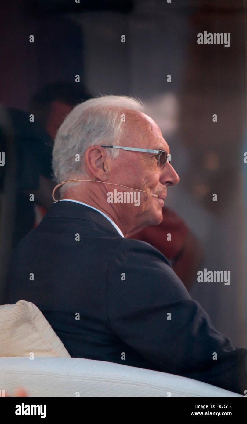 Franz Beckenbauer - Fanfest vor dem Champions League finale di Berlino. Immagini Stock
