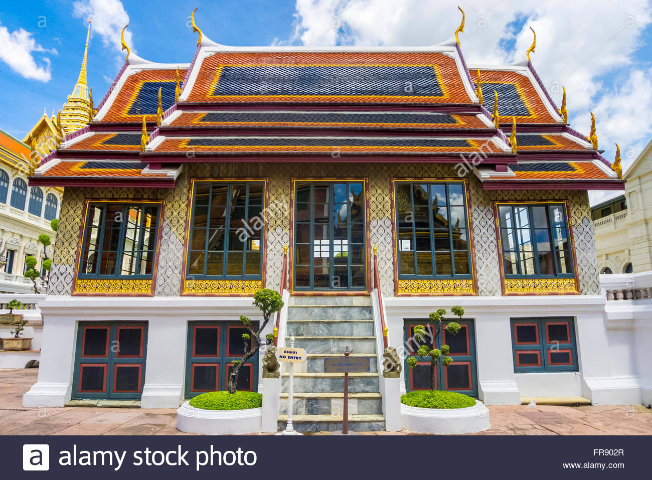 Phra Thinang Dusidaphirom hall presso il Grand Palace complesso, Bangkok, Thailandia Immagini Stock