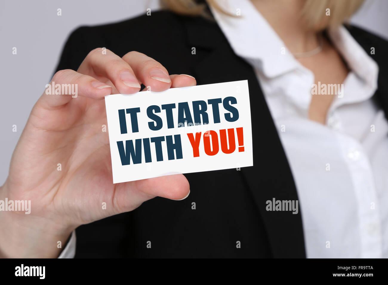 La motivazione a partire dall'inizio formazione coaching successo vincendo con successo il concetto di business Immagini Stock
