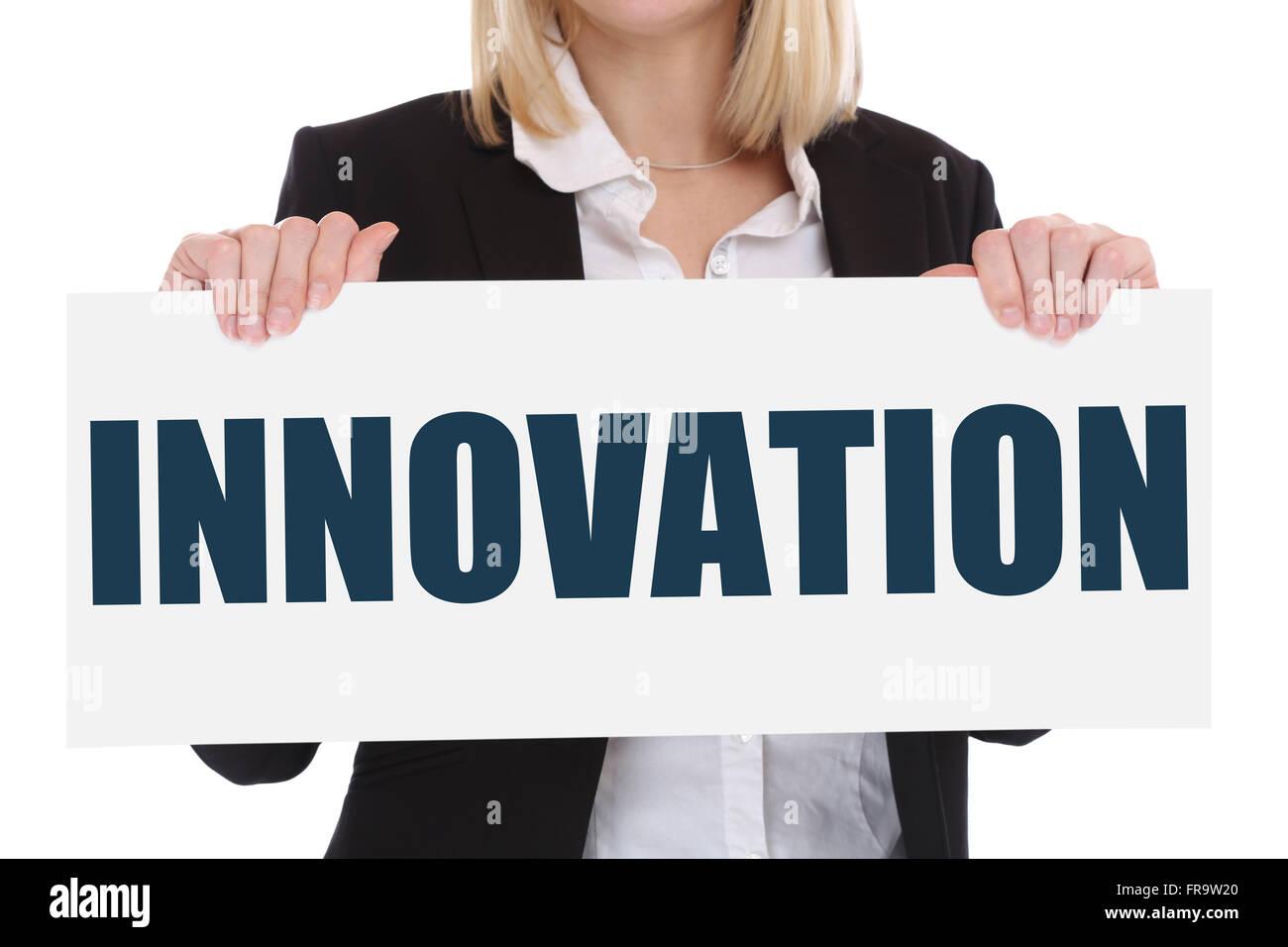 Idea di innovazione leadership di successo di successo vincendo il concetto di business innovare creatività Immagini Stock