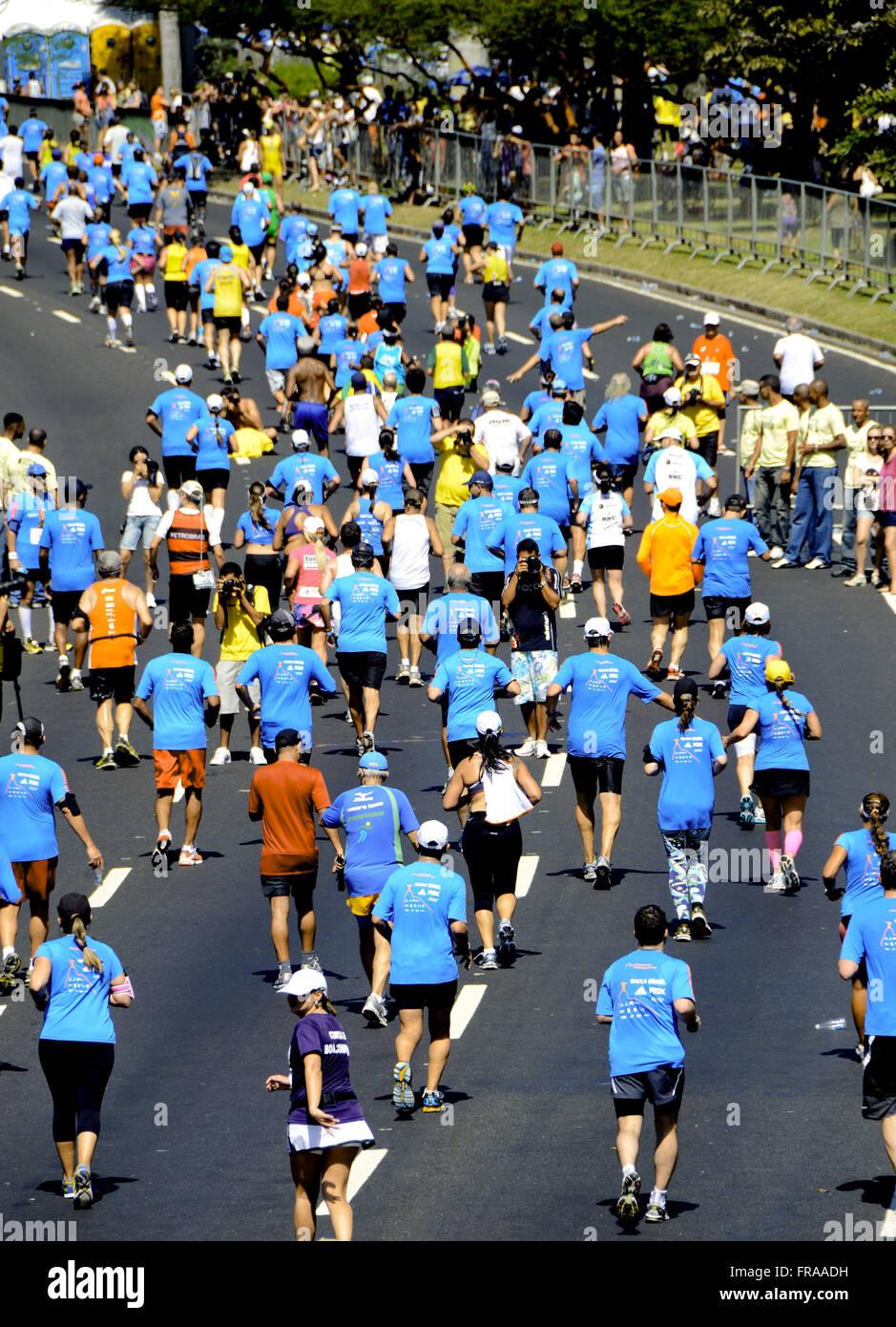 XVI Internazionale Mezza Maratona in Rio de Janeiro 2012 - Flamengo Immagini Stock
