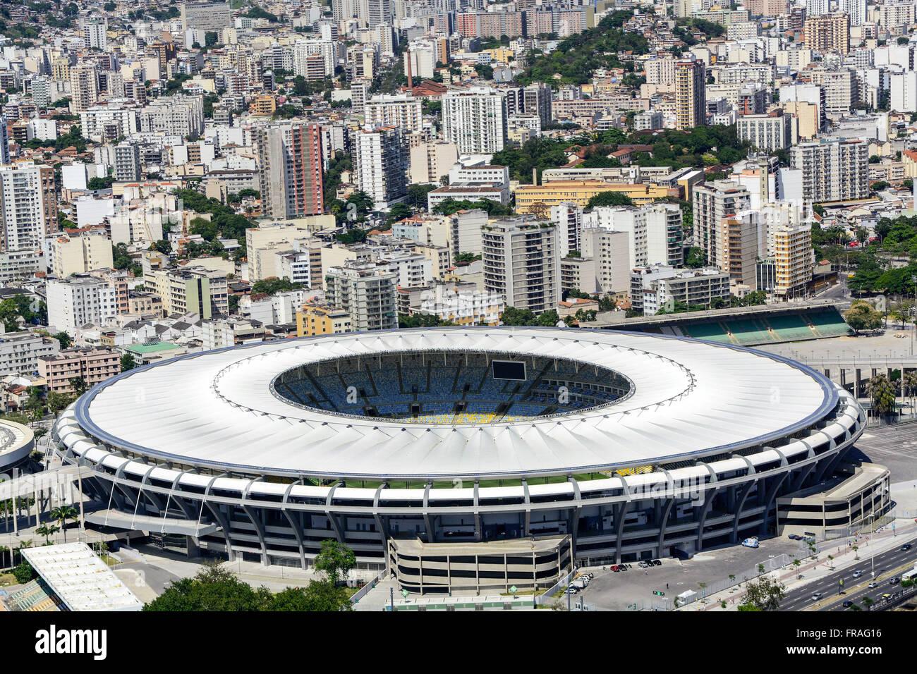 Estadio do Maracana Stadium con atletica Celio de Barros a destra Immagini Stock