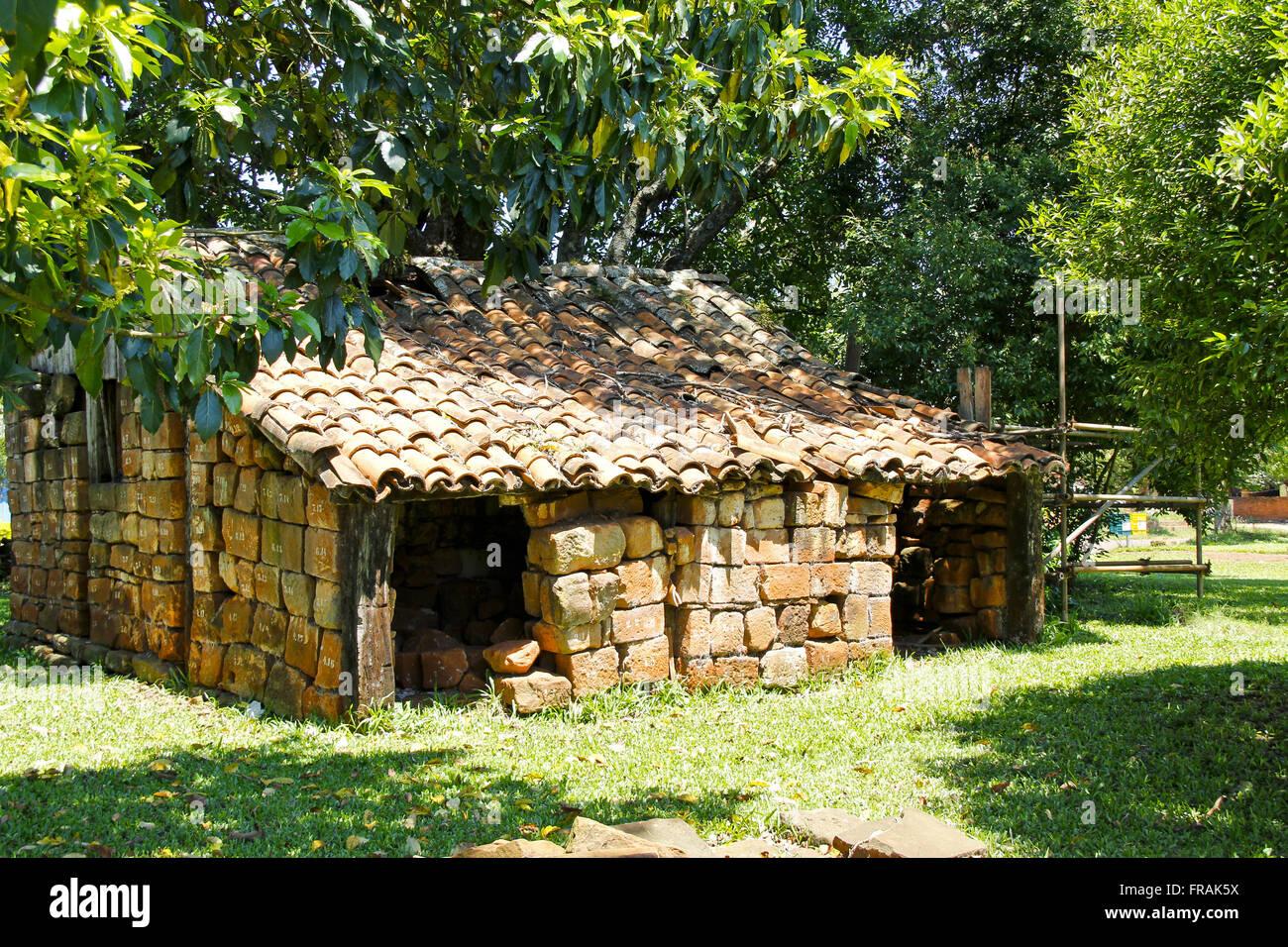 Antica dimora di indigeni e Jesuitica in Praca Roque Santa Cruz Gonzales Immagini Stock