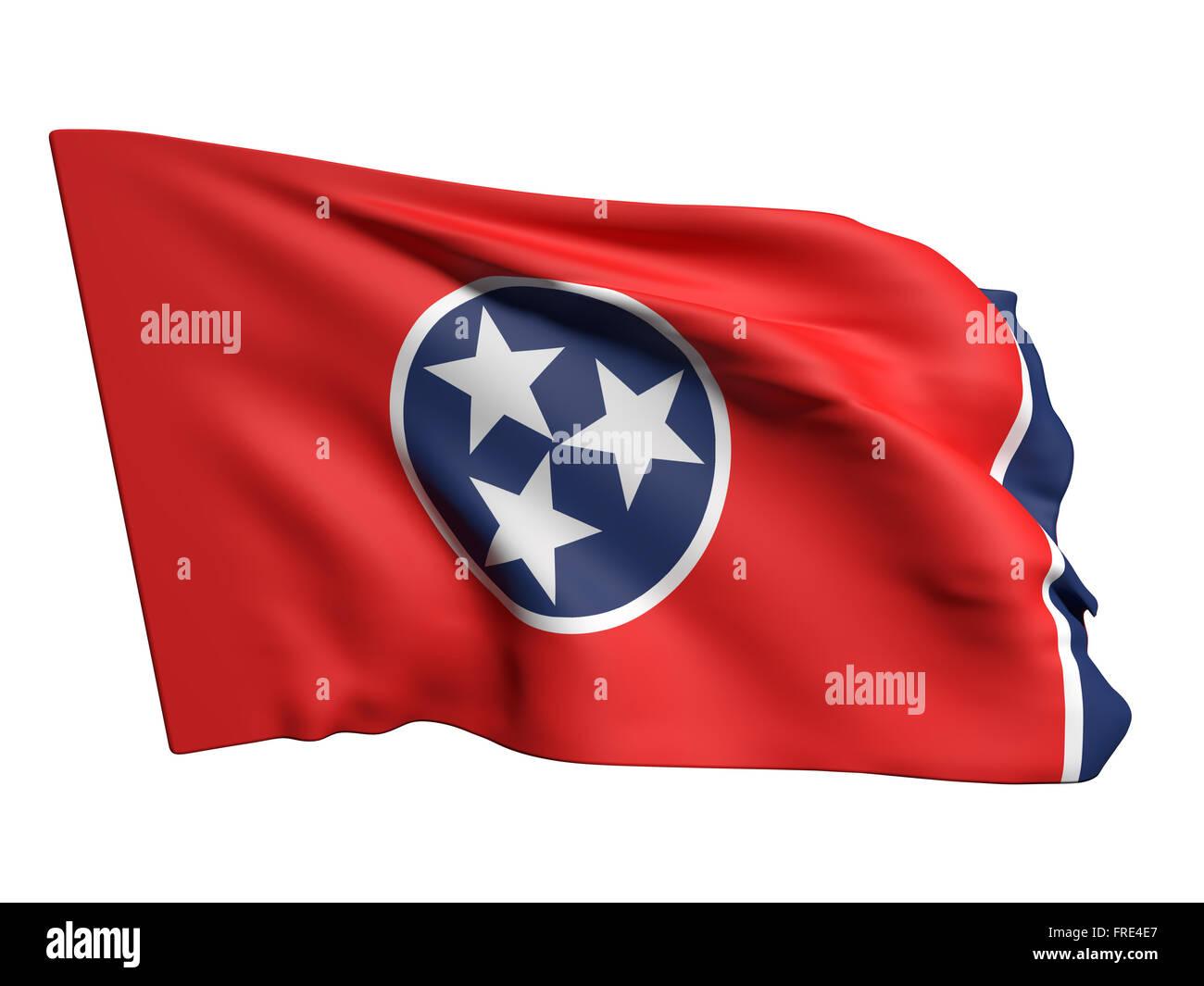 f264d01bd69561 3D rendering di un Tennessee bandiera sventola su sfondo bianco Immagini  Stock