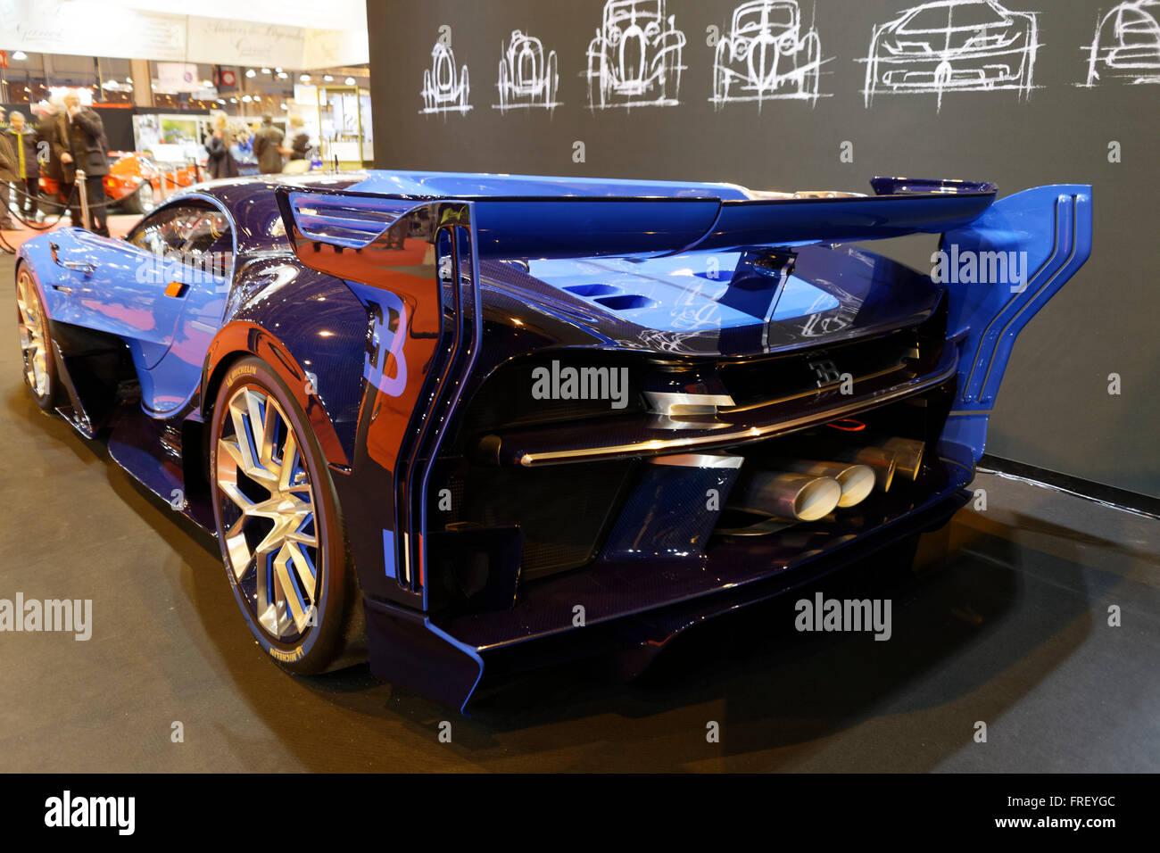 Bugatti Vision Gran Turismo a Retromobile Show di Parigi, Francia. © Veronique Phitoussi / Alamy Stock Photo Immagini Stock