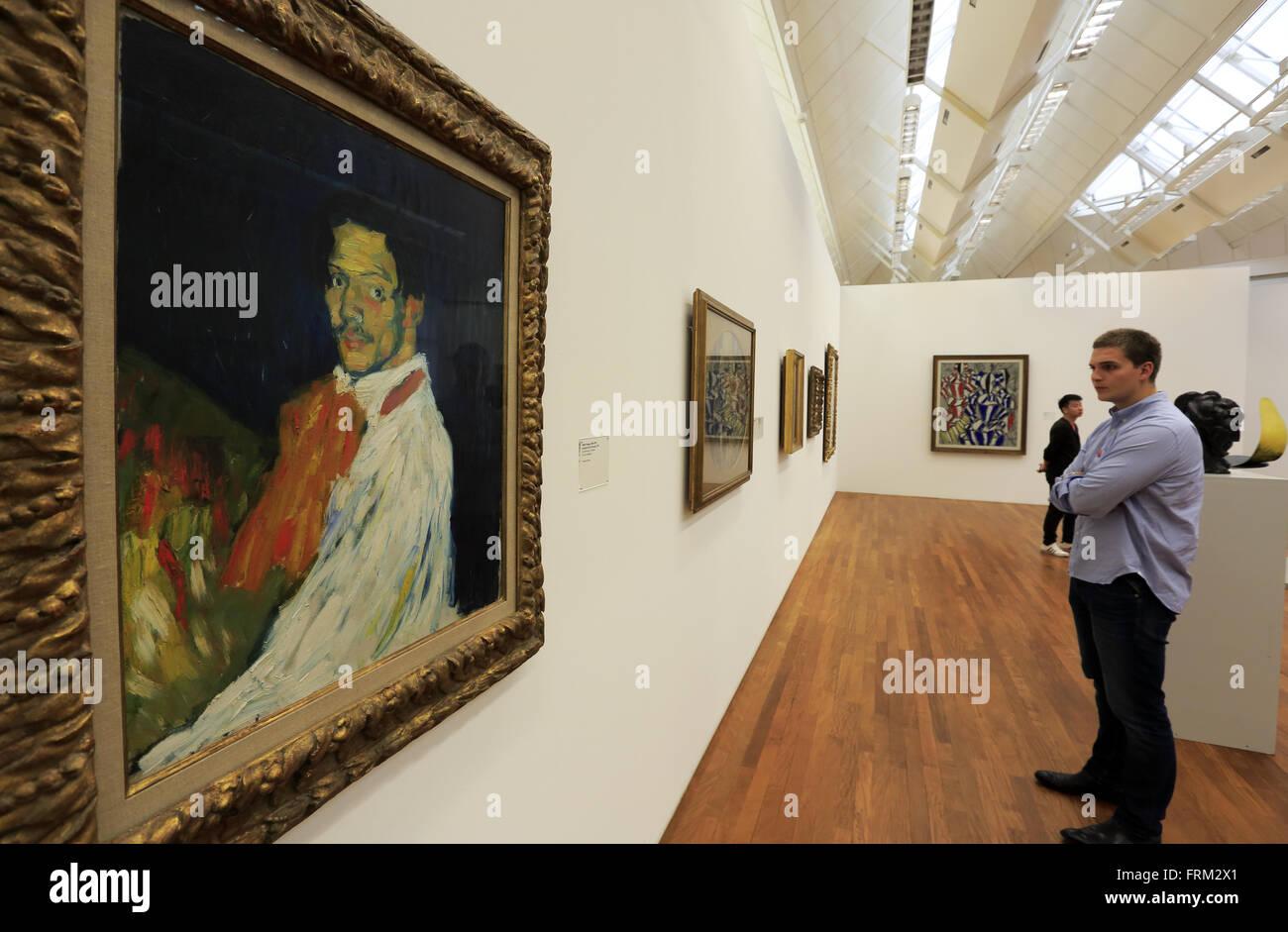 Autoritratto di Pablo Picasso nel Kunsthaus di Zurigo Fine Art Museum di Zurigo, Svizzera Immagini Stock