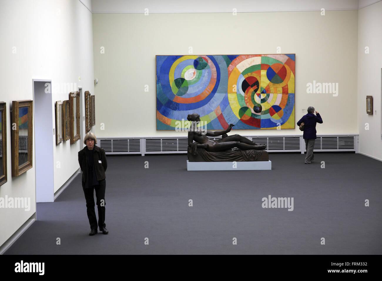 L'interno della Kunsthaus di Zurigo Fine Art Museum, Zurigo, Svizzera Immagini Stock