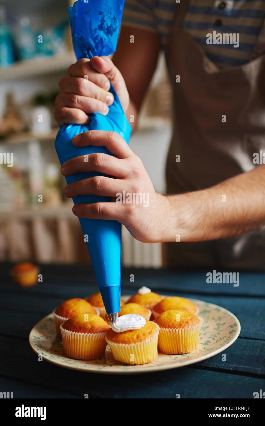 Gustosi cupcakes Immagini Stock