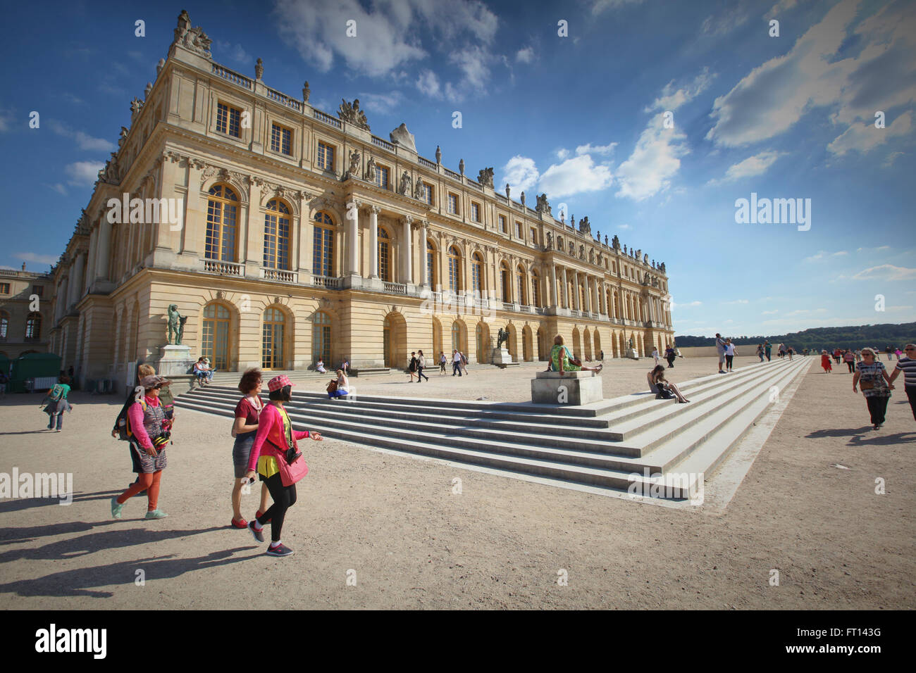 Palazzo di Versailles, Versailles vicino a Parigi, Francia Immagini Stock
