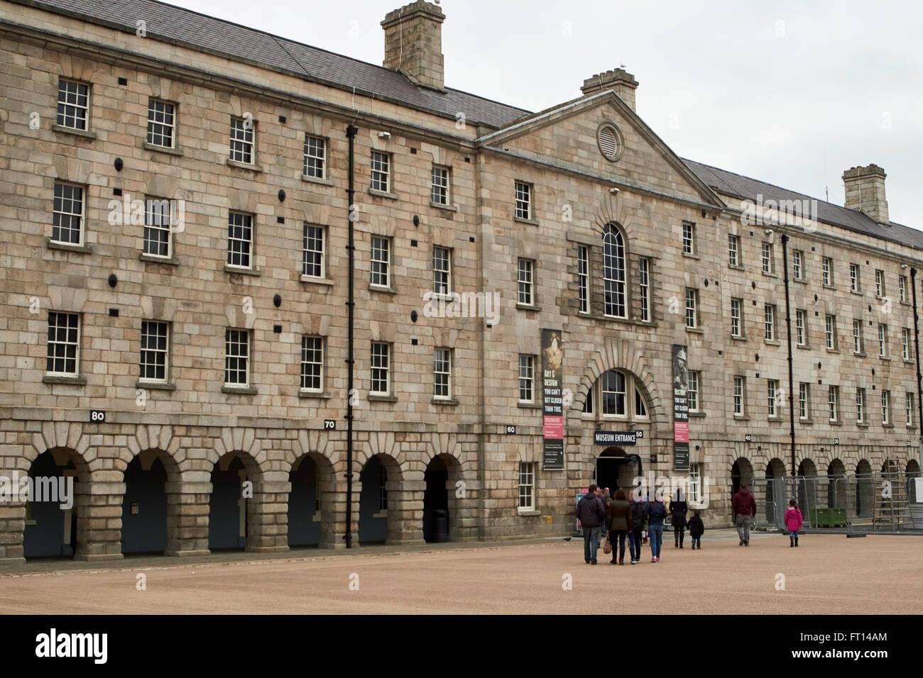 Arti decorative e storia museo nazionale dell'Irlanda nella vecchia caserma Collins Dublino Irlanda ex guarnigione Immagini Stock