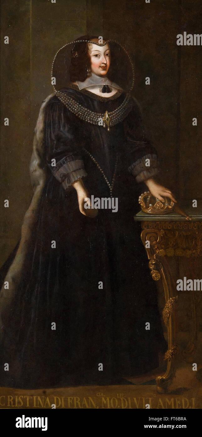 Ritratto di Cristina di Francia - La Reggia di Venaria Immagini Stock