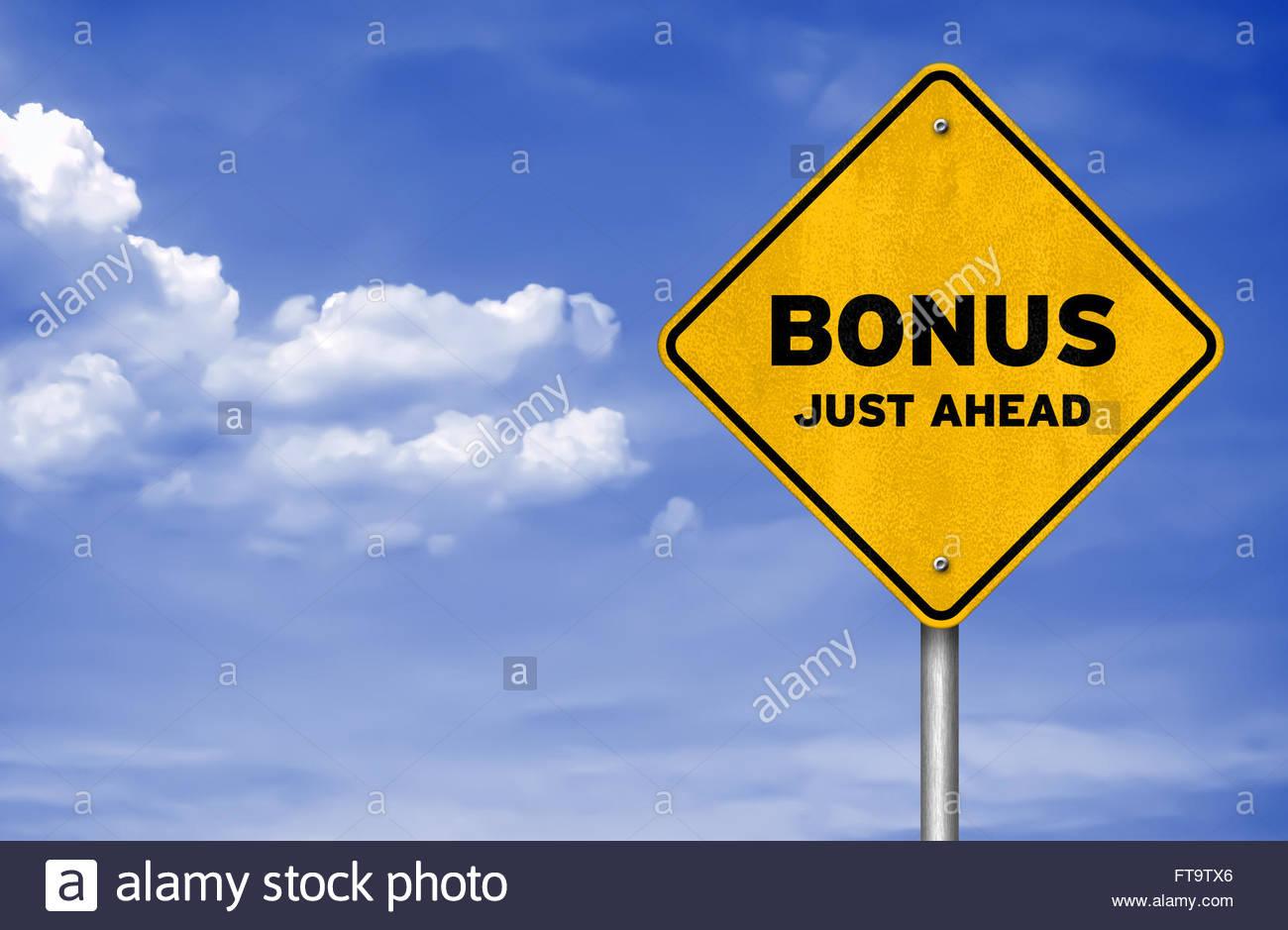 Bonus appena avanti Immagini Stock