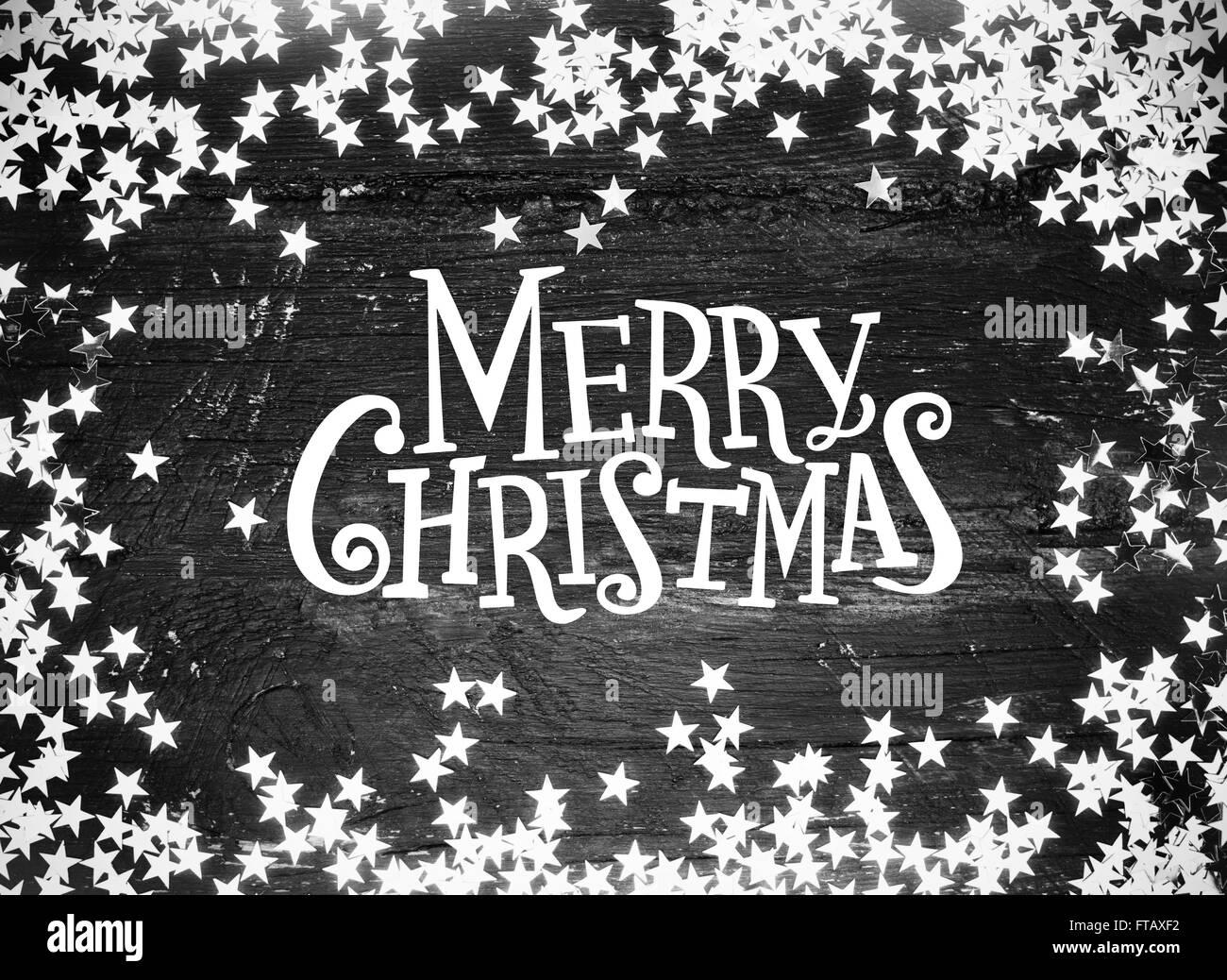 Buon Natale Glitter.Glitter Stelle Su Grunge Legno Con Buon Natale Testo In Bianco E
