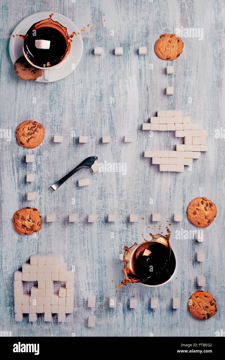 8 bit serie teatime - Pac-Man 2_0 Immagini Stock