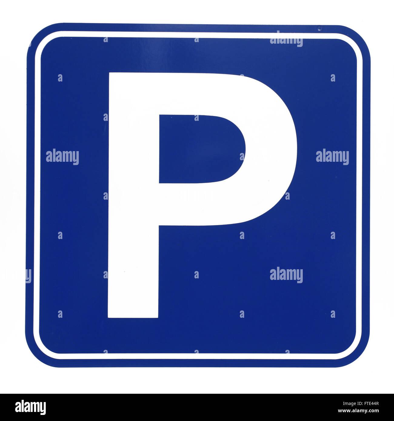 Parcheggio auto segno illustrazione su sfondo bianco Immagini Stock