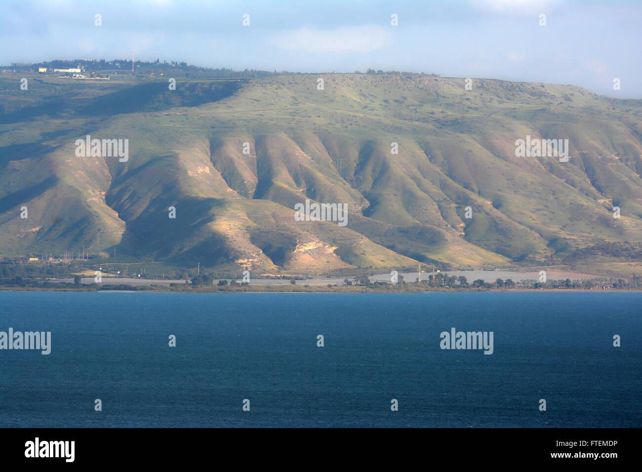 Alture del Golan e altezze thGolan, sul mare di Galilea, Israele, Golane mare di Galilea, Israele Immagini Stock