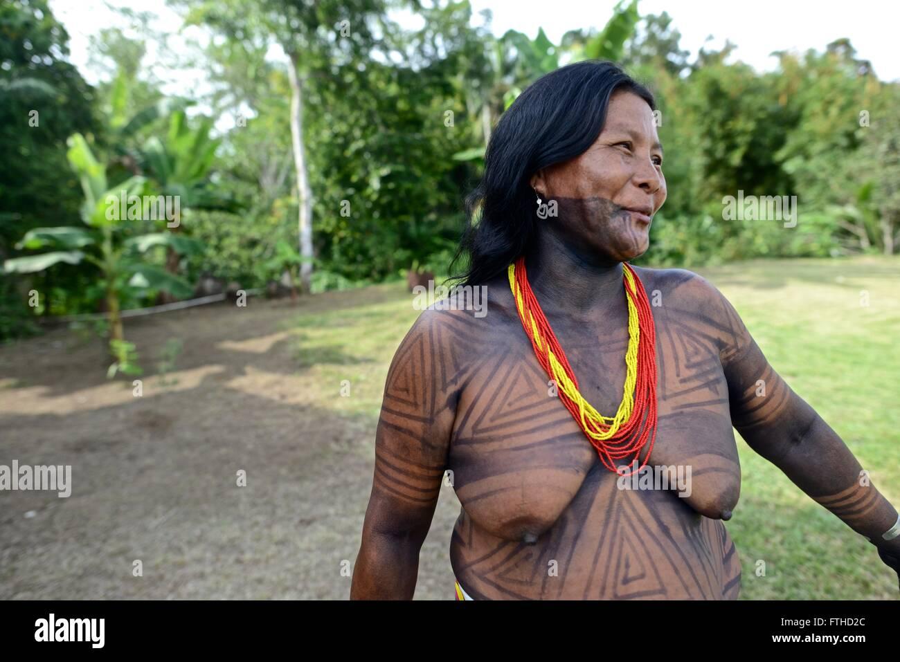 Embera comunità indigena. Sambu distretto. Regione di Darien. Immagini Stock