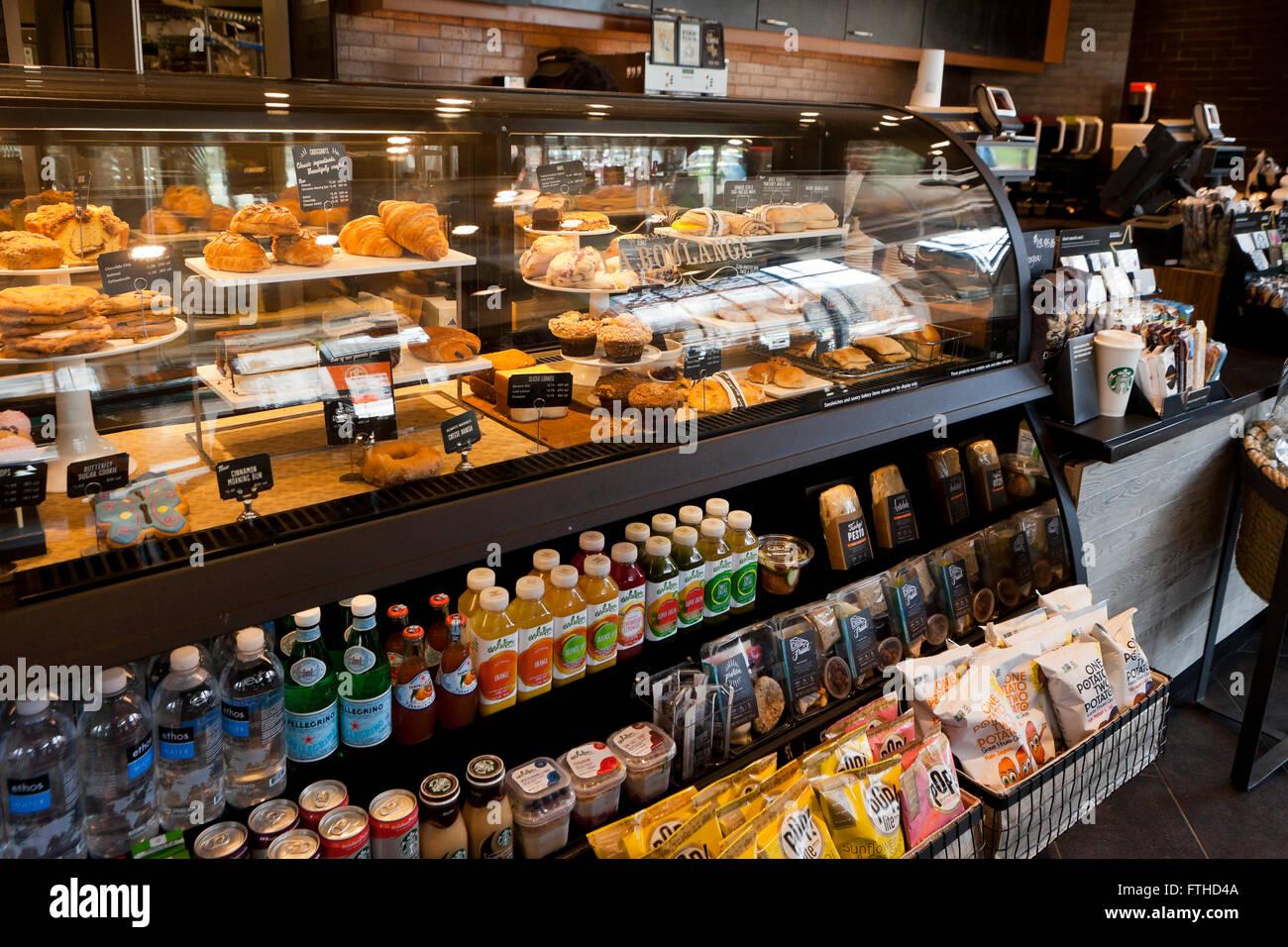 Starbucks dolci e bevande bottiglia vetrina , USA