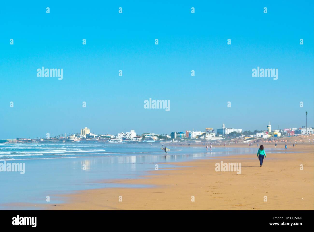 Spiaggia, Ain Diab, Casablanca, Marocco, Africa settentrionale Immagini Stock