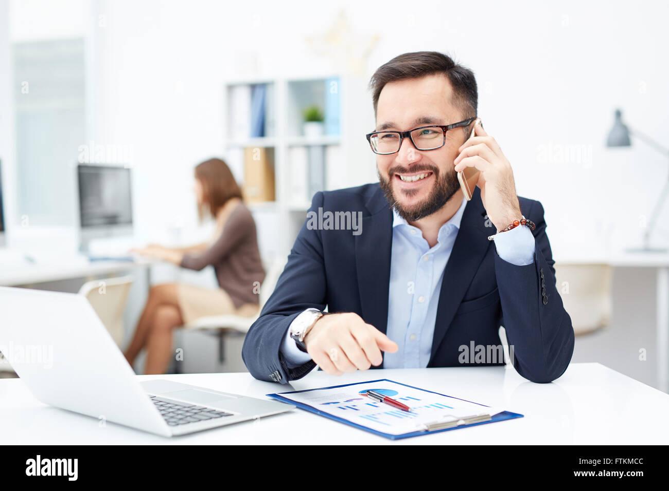 Colloquio telefonico Immagini Stock