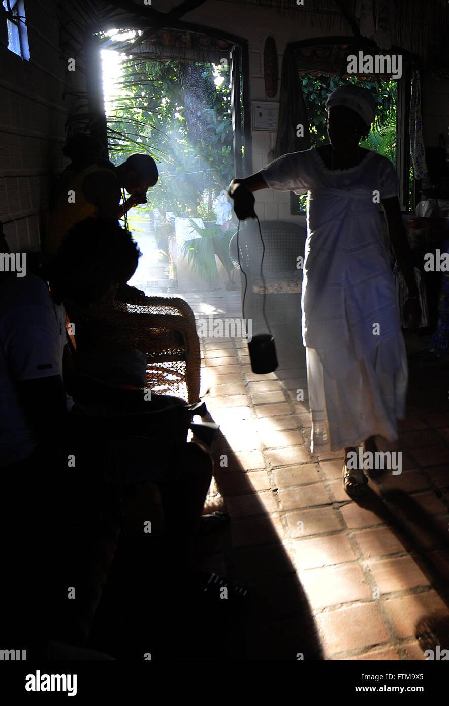Ax cantiere Ile Ala Obatalande - Candomble Ketu nazione Immagini Stock