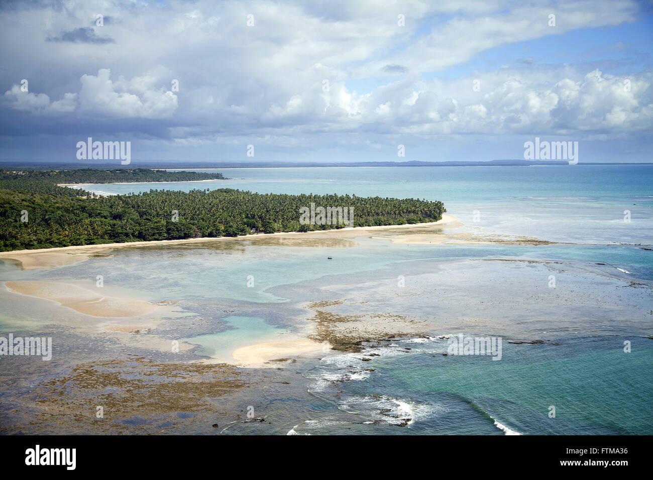 Le barriere coralline in Morere Beach - Boipeba - Arcipelago Tinhare Immagini Stock