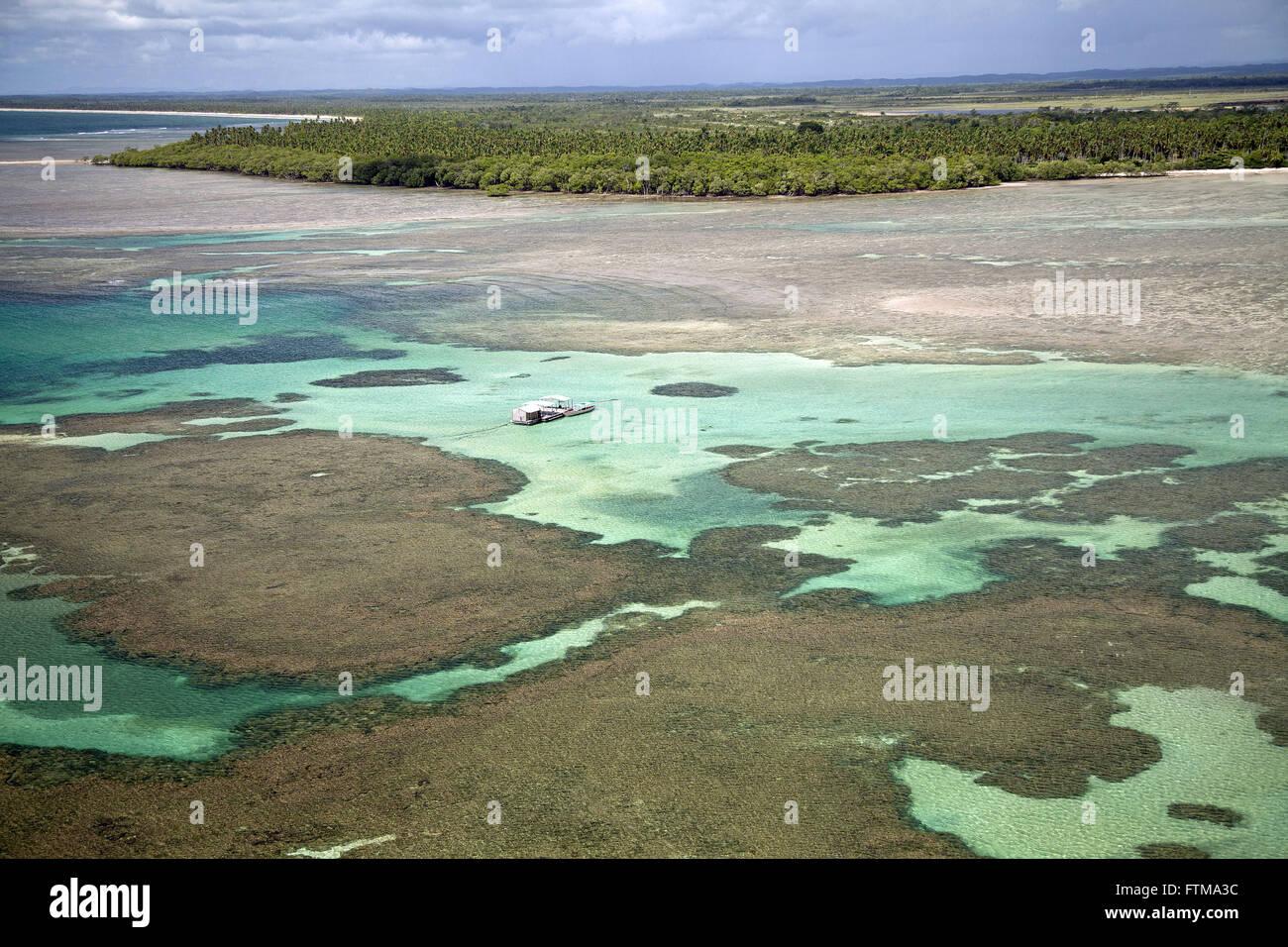 Le barriere coralline di Morere Beach - Boipeba - Arcipelago Tinhare Immagini Stock